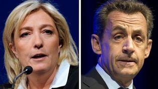 Marine Le Pen et Nicolas Sarkozy (montage) (JEAN-CHRISTOPHE VERHAEGEN LIONEL BONAVENTURE / AFP)