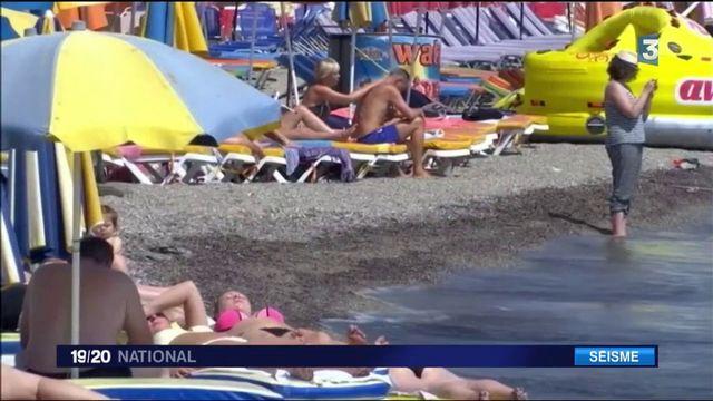 Séisme : les touristes de l'île de Kos tentent d'oublier le tremblement de terre