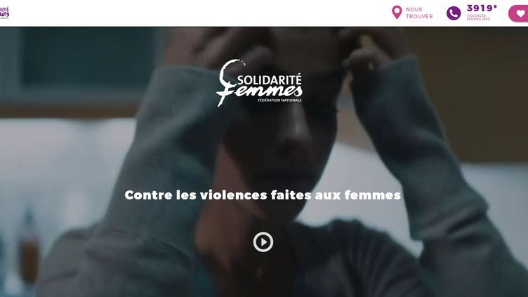 Le site internet de la Fédération nationale solidarité femmes. (CAPTURE D'ÉCRAN)