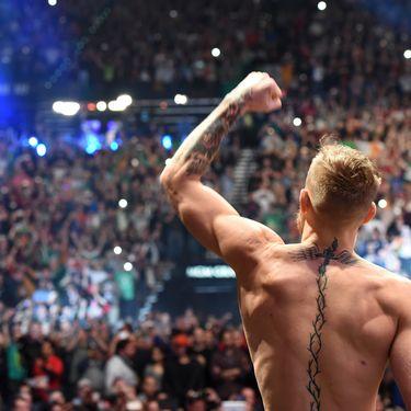 Conor McGregor lors d'un combat au MGM Grand Arena de Las Vegas (Etats-Unis), le 10 décembre 2015. (MIKE ROACH / ZUFFA LLC / GETTY IMAGES)