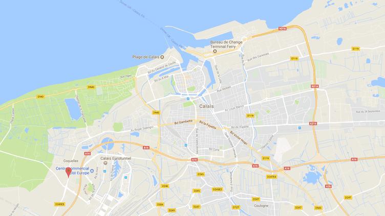 Carte de localisation de l'avenue Charles-de-Gaulle à Calais. (GOOGLE MAPS)