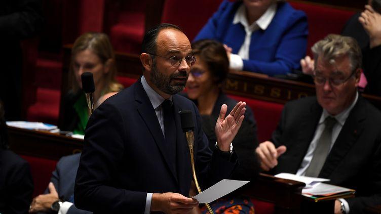 Le Premier ministre Edouard Philippe, lors des questions au gouvernement, à l'Assemblée nationale, le 15 octobre 2019. (CHRISTOPHE ARCHAMBAULT / AFP)