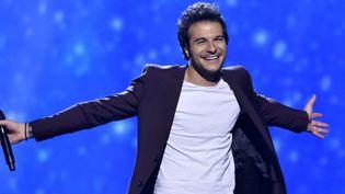Amir Haddad en répétition pour le Concours de l'Eurovision, dimanche 8 mai à Stockholm.  (Jonas Ekstromer/EPA/MaxPPP)