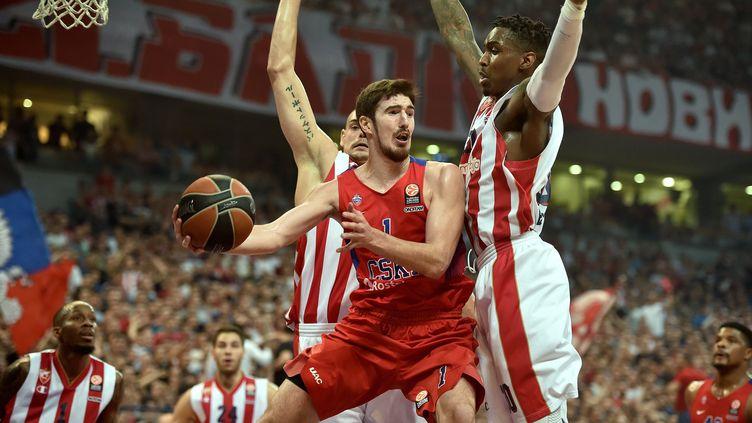 Le CSKA Moscou a obtenu le premier billet  pour le Final Four. (ANDREJ ISAKOVIC / AFP)