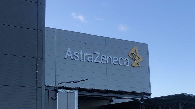 L'usine pharmaceutique AstraZeneca à Dunkerque (Nord), le 17 janvier 2020. (EMMANUEL BOUIN / RADIOFRANCE)