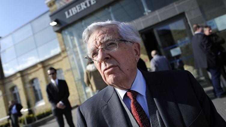 L'ancien ministre Jean-Pierre Chevènement, le 8 avril 2016 à Dunkerque (Nord). (SARAH ALCALAY/SIPA)