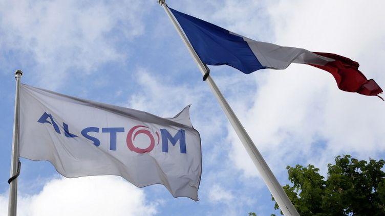 Le siège d'Alstom, à Levallois-Perret (Hauts-de-Seine), le 27 avril 2014. (PATRICK KOVARIK / AFP)