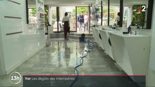 Var : la ville de Six-Fours-Les Plages inondée