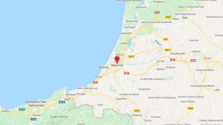 Bayonne, dans lesPyrénées-Atlantiques. (GOOGLE MAPS)