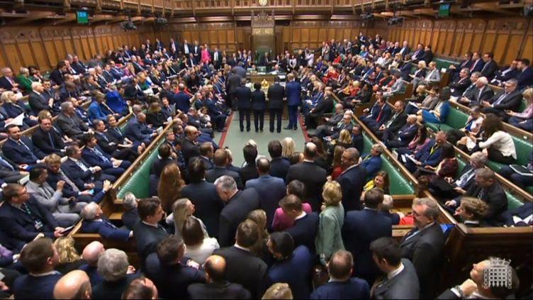 Le Parlement britannique, nouvellement élu, aapporté son soutien à l'accord de Brexit du Premier ministre Boris Johnson, le 20 décembre 2019. (AFP PHOTO / UK PARLIAMENT)