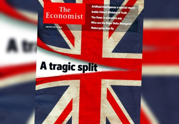 """La une de """"The Economist"""", après le """"Brexit"""", le 24 juin 2016. (THE ECONOMIST)"""