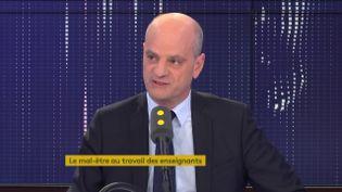 Jean-Michel Blanquer, ministre de l'Éducation nationale et de la jeunesse, était l'invité de franceinfo le 15 novembre 2019. (FRANCEINFO / RADIO FRANCE)