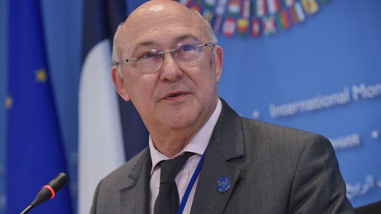 Le ministre des Finances Michel Sapin, le 10 avril 2014 à Washington (District of Columbia, Etats-Unis). (MANDEL NGAN / AFP)