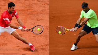 Rafael Nadal face à Novak Djokovic, l'opposition la plus disputée de l'histoire de l'ère Open chez les messieurs. (MARTIN BUREAU / AFP)
