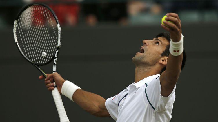 Le n°1 mondial Novak Djokovic (ADRIAN DENNIS / AFP)
