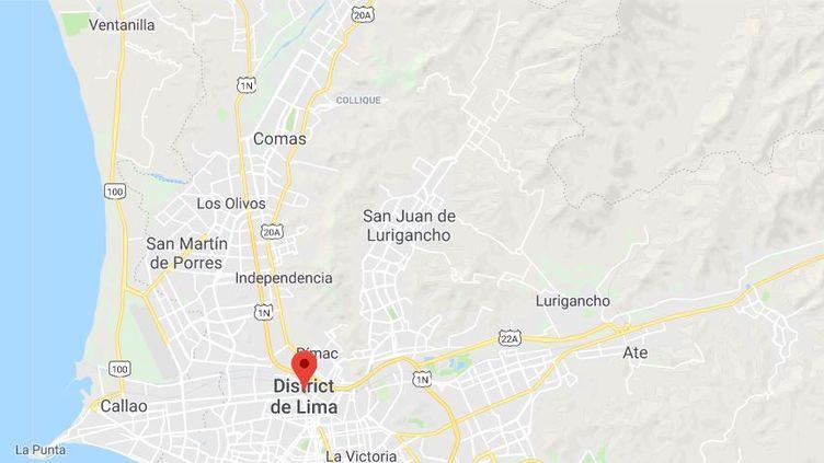 Un accident de car fait au moins 25 morts au nord de Lima (Pérou) le 2 janvier 2018. (GOOGLE MAPS)