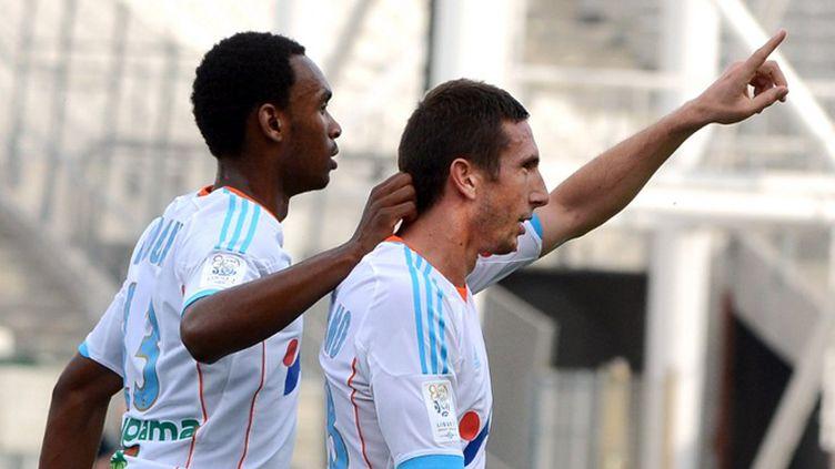 Amalfitano et Andre Ayew (GERARD JULIEN / AFP)