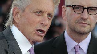 Arrivée de Michael Douglas et Steven Soderbergh au 39me festival de Deauville, le vendredi 30 auôt 2013  (CHARLY TRIBALLEAU / AFP)