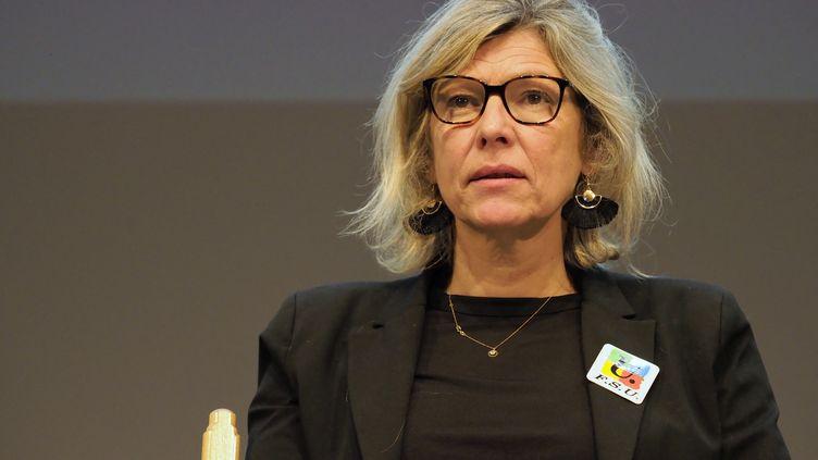 Sigrid Gérardin,secrétaire générale du Snuep-FSU, le 17 décembre 2019. (DANIEL PIER / NURPHOTO / AFP)