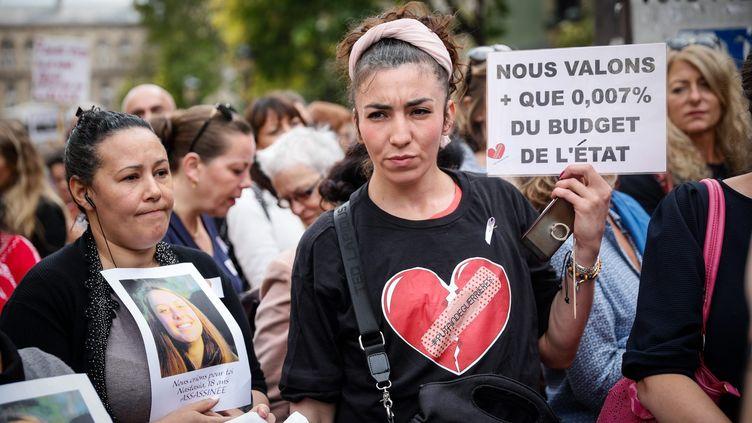 Rassemblement contre les violences faites aux femmes, le 6 octobre 2018 à Paris. (THOMAS PADILLA / MAXPPP)