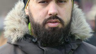 """Eric Drouet, l'un des leaders des """"gilets jaunes"""", lors d'une manifestation à Paris, le 19 janvier 2019. (ZAKARIA ABDELKAFI / AFP)"""