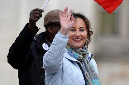 Ségolène Royal le 15 avril à Vincennes à Paris (MARTIN BUREAU / AFP)