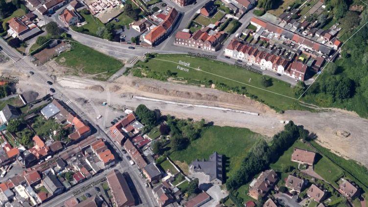 La frontière entre Wattrelos (Nord) et Mouscron (Belgique). (GOOGLE MAPS)