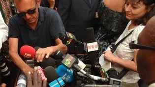 Claude Verlon et Ghislaine Dupont au Mali, en juillet 2013. (FABIEN GOSSET / RADIO FRANCE)