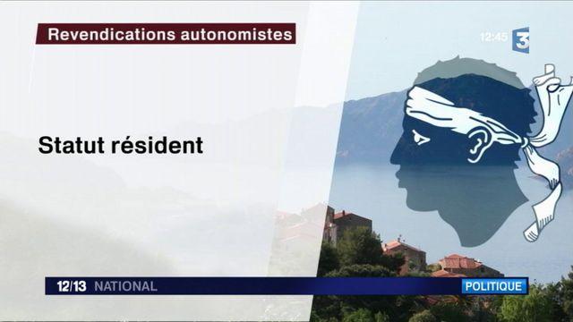 Corse : les élus demandent une plus grande autonomie