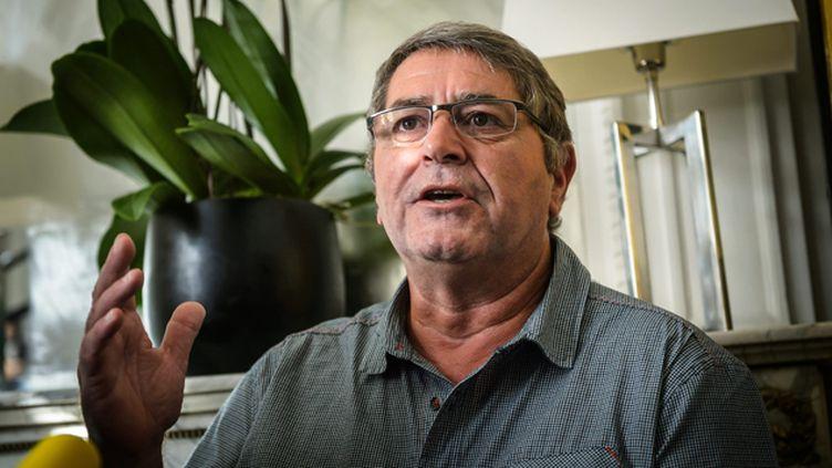 (Pascal Fauret, le pilote qui a fui la République dominicaine, s'est exprimé depuis le cabinet parisien de son avocat © CHRISTOPHE PETIT TESSON/EPA/MaxPPP)