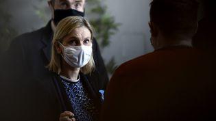 La ministrechargée de l'Industrie, Agnès Pannier-Runacher, à Béthune (Pas-de-Calais), le 12 novembre 2020. (FRANCOIS LO PRESTI / AFP)
