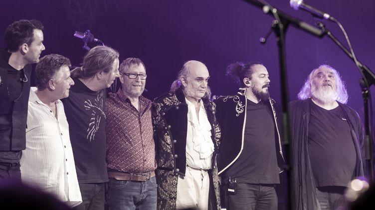 Le groupe Ange au Trianon le 1er février 2020 pour le concert anniversaire des 50 ans de la formation phare du rock progressif français. (ERIC CHAMPARNAUD)