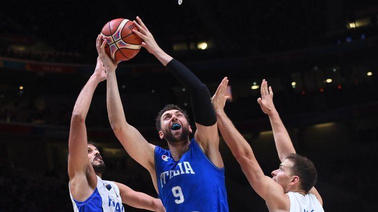 """Andrea Bargnani, """"l'énigme"""" du basket italien (EMMANUEL DUNAND / AFP)"""