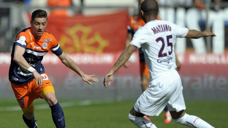 Anthony Mounier (Montpellier) face à Mariano (Bordeaux) (PASCAL GUYOT / AFP)