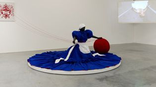 Mary Sibande, Wish you were here, 2010  (Photo Marc Domage)