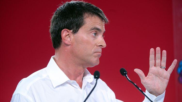 Le Premier ministre Manuel Valls à l'université d'été du Parti socialiste à La Rochelle (Charente-Maritime), le 31 août 2014. (JEAN-PIERRE MULLER / AFP)