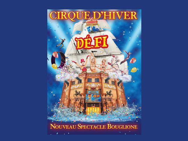 Affiche du dernier spectacle Bouglione (Cirque d'Hiver)