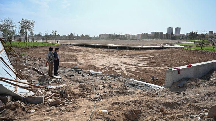 Un cimetière Ouïghour détruit par la Chine dans la province de Xinjiang (Chine), le 13 septembre 2019. (HECTOR RETAMAL / AFP)