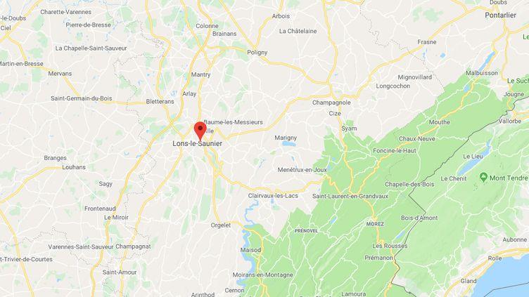 Lons-le-Saunier, dans le Jura. (GOOGLE MAPS)