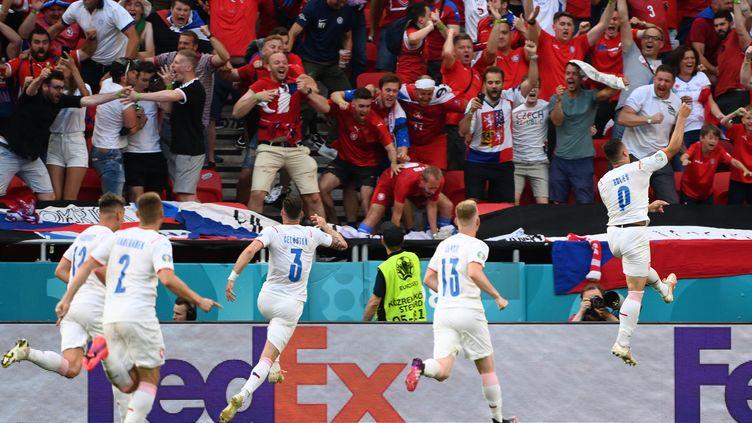 Le milieu tchèque Tomas Holes a inscrit le premier but de son équipe face aux Pays-Bas dimanche 27 juin. (ATTILA  KISBENEDEK / POOL)