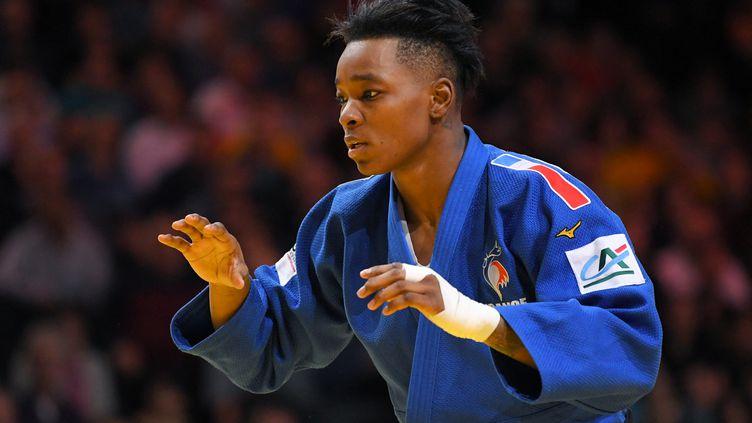 Audrey Tcheuméo lors du Grand Slam Paris, le 9 février 2020. (PHILIPPE MILLEREAU / KMSP)