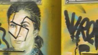 Un visage de Simone Veil recouvert d'une croix gammée (CAPTURE D'ÉCRAN FRANCE 3)