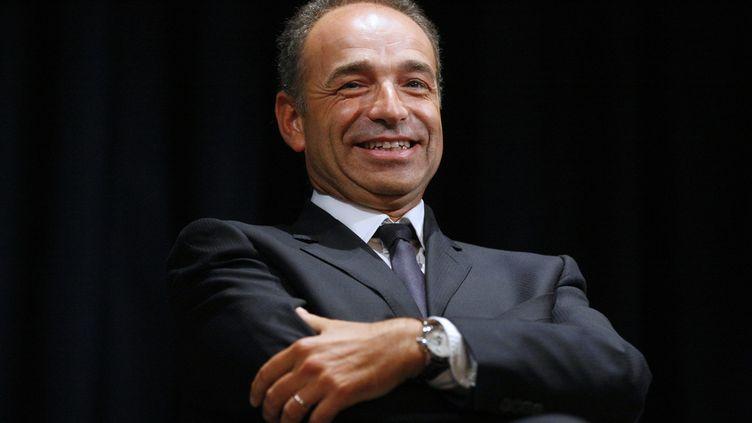 Jean-François Copé, le 13 septembre 2012, lors d'une réunion avec des militants de l'UMP à Paris. (THOMAS PADILLA / MAXPPP)