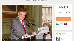 """La cagnotte lancée par """"Le Gorafi"""" pour aider financièrement François Fillon, le 3 avril 2017 (capture d'écran).  (LEETCHI.COM)"""