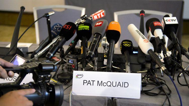 Le monde du vélo attend le verdict (FABRICE COFFRINI / AFP)