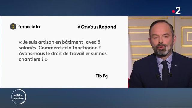 Edouard Philippe répond à un internaute de franceinfo.fr