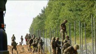 Frontières :les barrières s'érigent en Europe pour lutter contre l'arrivée des migrantsillégaux. (FRANCE 2)