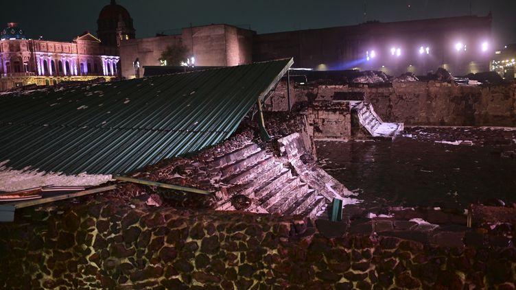 Les dégâts sont mineurs malgré l'effondrement partiel du toit. (PEDRO PARDO / AFP)