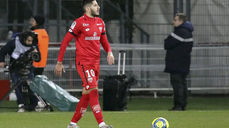 Yassine Benzia sous le maillot de Dijon (NICOLAS GOISQUE / MAXPPP)