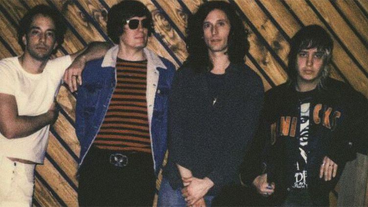 The Strokes: Albert Hammond Jr, Nikolai Fraiture, Nick Valens,i J.Casablancas (manque le batteur Fabrizio Moretti)  (DR)